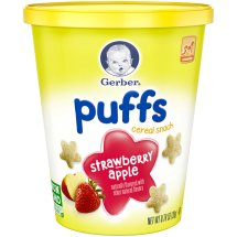Gerber Puffs Strawberry Cereal Snack 0.70 oz. Tub