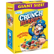 Cap'n Crunch's Crunch Berries Sweetened Corn & Oat Cereal, 28 oz Box
