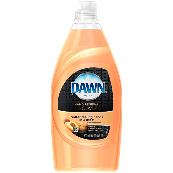Dawn Hand Renewal Dawn Hand Renewal with Olay Peach & Almond Dishwashing Liquid 18 Fl Oz Dish Care