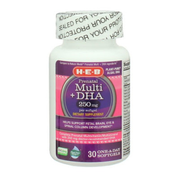 H-E-B Prenatal Multi +Dha One Daily Softgels