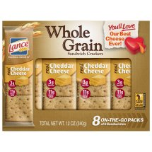 Lance Cheddar Cheese Whole Grain Cracker Sandwiches - 8 Count