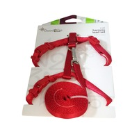 Good 2 Go Red Cat Harness Lead Set