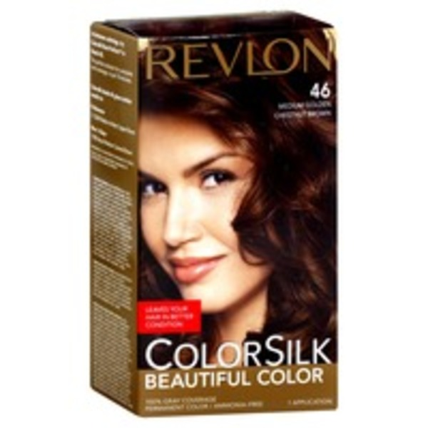 Colorsilk Permanent Color, Medium Golden Chestnut Brown 46