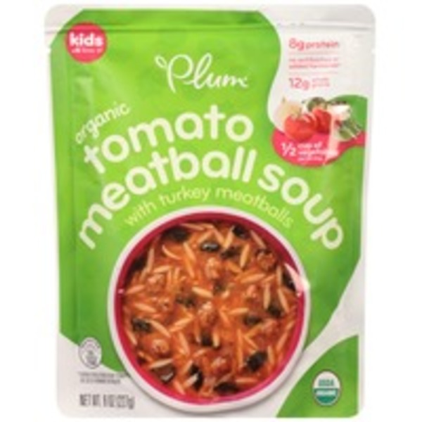 Plum Organics Organic with Turkey Meatballs Tomato Meatball Soup