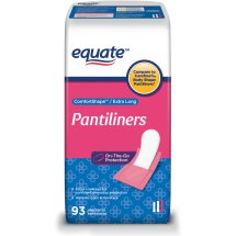 Equate ComfortShape Pantiliners, Extra Long, 93 Ct