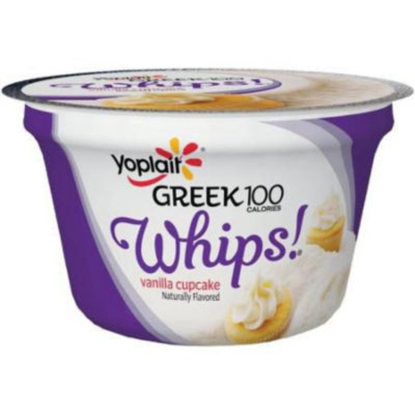 Yoplait Greek 100 Whips! Vanilla Cupcake Fat Free Yogurt Mousse