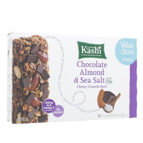 Kashi Chewy Chocolate Almond & Sea Salt with Chia Granola Bars