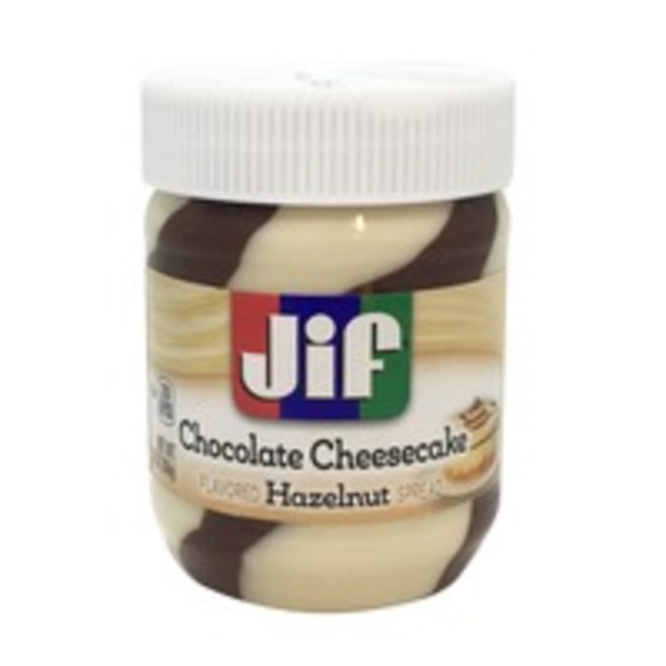 Jif Hazelnut Swirl Cheesecake