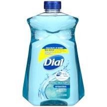 Dial Antibacterial Liquid Hand Soap with Moisturizer Refill, Spring Water, 52 Ounce