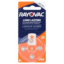 Rayovac Hearing Aid Batteries, Size 13, 4 ct