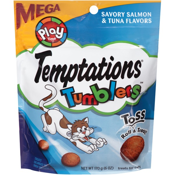 Temptations Tumblers Savory Salmon & Tuna Flavors Cat Care & Treats