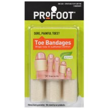 PROFOOT Toe Bandages 4' lengths, 3 ct