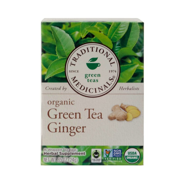 Traditional Medicinals Organic Green Tea with Ginger