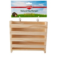 Kaytee Small Animal Natural Hay Manger Feeder 6.5
