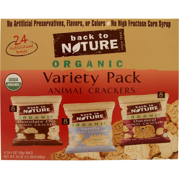 Back to Nature Organic Animal Crackers Variety Pack