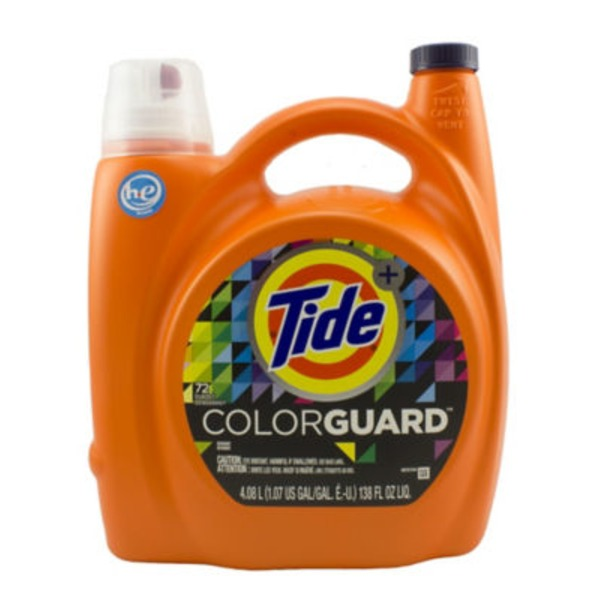 Tide ColorGuard HE Turbo Clean Liquid Laundry Detergent, 138 oz, 72 loads Laundry