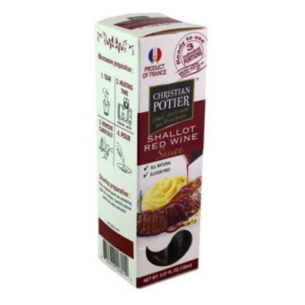 Christian Portier Shallot Red Wine Sauce