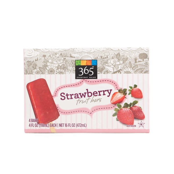365 Frozen Strawberry Fruit Bars