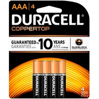 Duracell Coppertop AAA Alkaline Batteries 4count Primary Major Cells