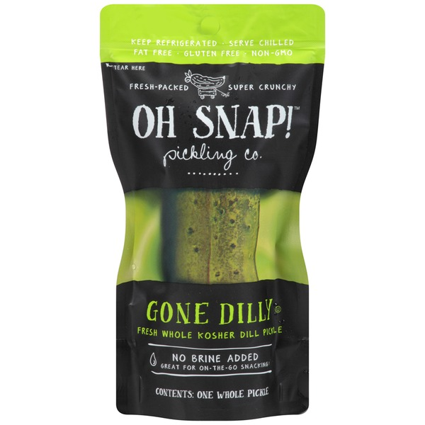 Oh Snap! Gone Dilly Fresh Whole Kosher Dill Pickle