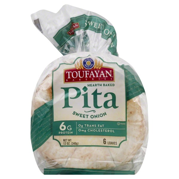 Toufayan Bakeries Pita Sweet Onion - 6 CT