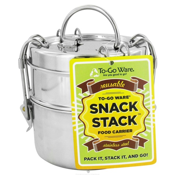 To Go Ware Snack Stack 2 Tier Tiffin Set Stainless Steel Food Carrier