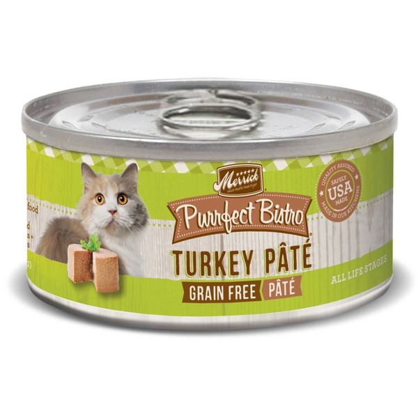 Merrick Purrfect Bistro Grain Free Turkey Pate Canned Cat Food