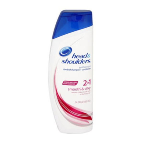 Head & Shoulders Smooth & Silky Head and Shoulders Smooth & Silky 2-in-1 Dandruff Shampoo + Conditioner 13.5 Fl Oz Female Hair Care