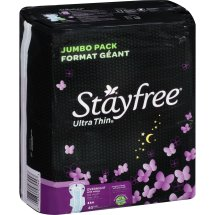Stayfree Ultra Thin Overnight Pads with Wings, 40 count