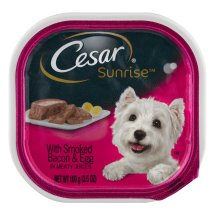Cesar Sunrise With Smoked Bacon and Egg Souffle Breakfast Wet Dog Food Trays, 3.5 Oz