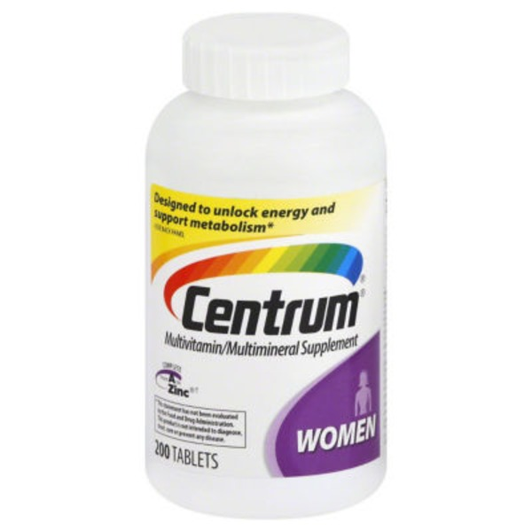 Centrum Women Tablets Multivitamin/Multimineral Supplement