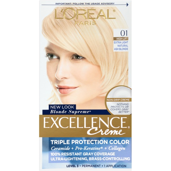 Excellence Creme 01 High-Lift Extra Light Natural Ash Blonde Hair Color
