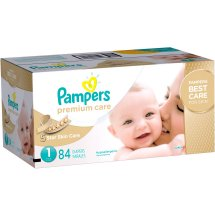 Pampers Premium Care Diapers, Size 1, 84 Diapers