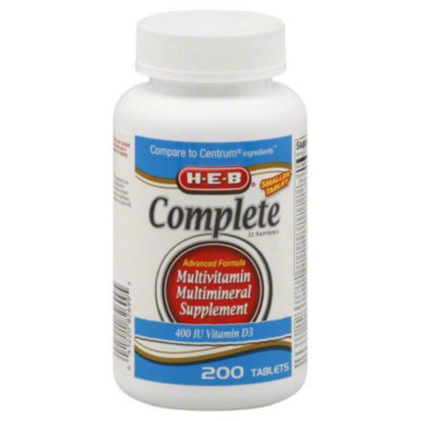 H-E-B Complete Multivitamins & Minerals Supplement Advanced Formula
