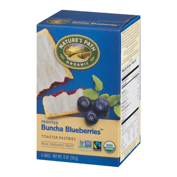 Nature's Path Organic Frosted Buncha Blueberries Toaster Pastries - 6 CT