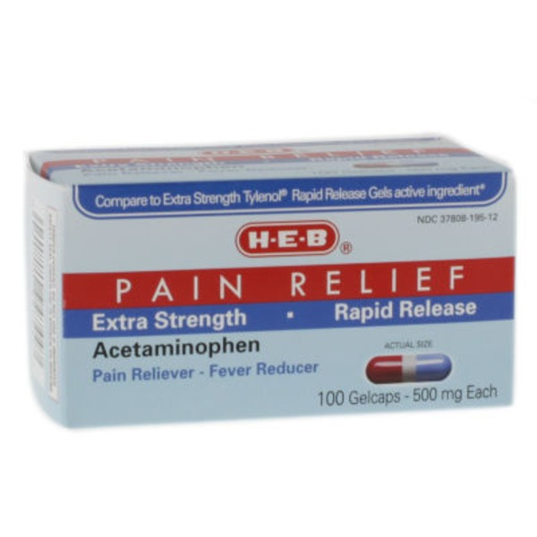 H-E-B Rapid Release Extra Strength 500 mg Acetaminophen Gelcaps
