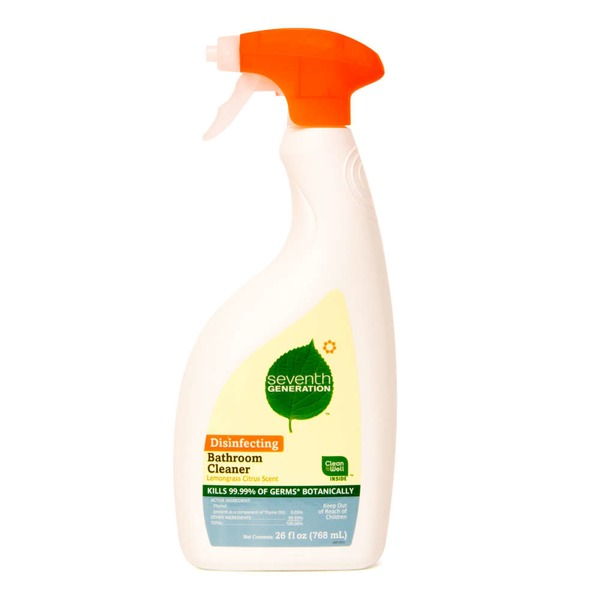 Seventh Generation Disinfecting Lemongrass Citrus Scent Bathroom Cleaner