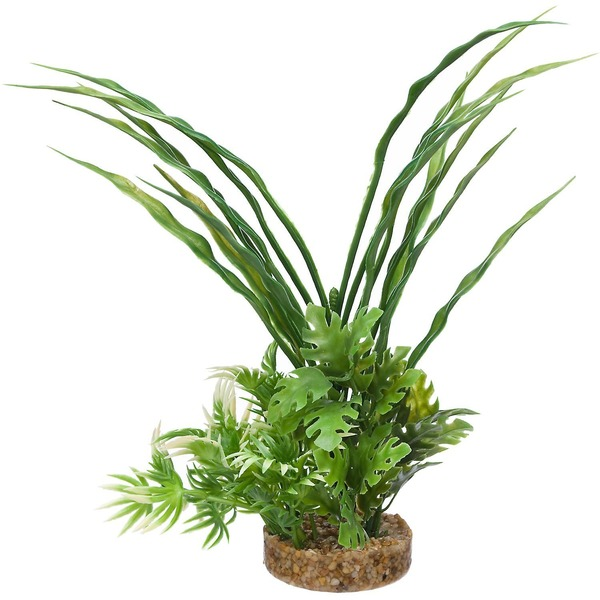 Petco Green Fiesta Bush Plastic Aquarium Plant