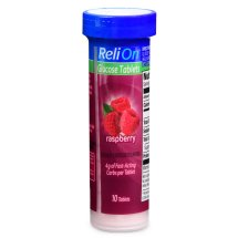 Relion Raspberry Glucose Tablets, 10 Ct