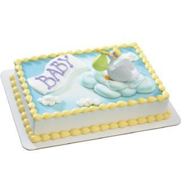 Special Delivery Baby Shower Cake 1/4 Sheet Cake, Serves  24