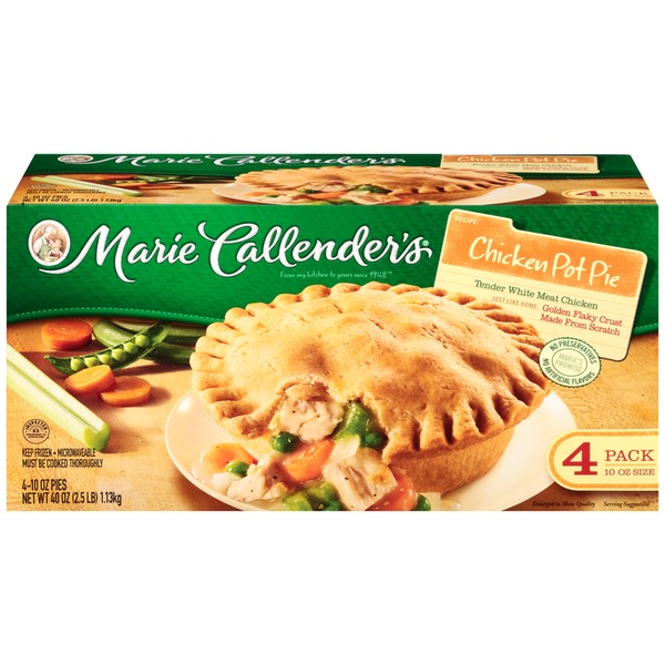Marie Callender's Chicken White Meat 4 Ct Pot Pies
