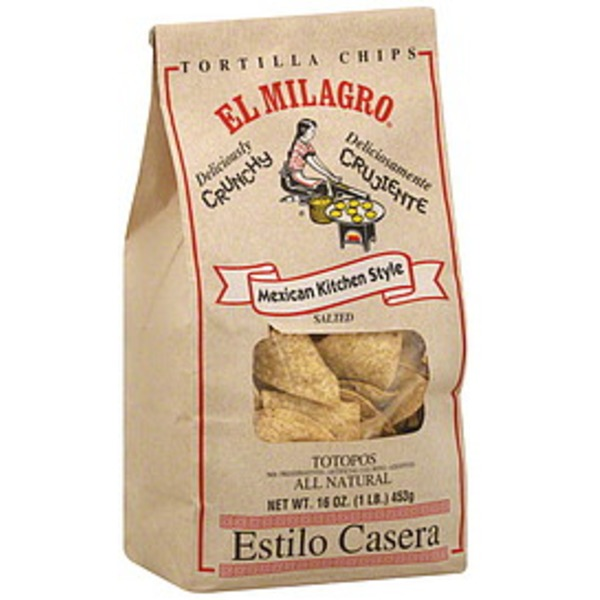 El Milagro Mexican Kitchen Style Sea Salt Tortilla Chips