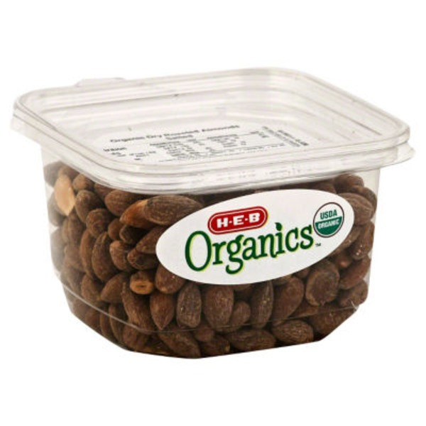 H-E-B Organic Dry Roasted Almonds, Salted