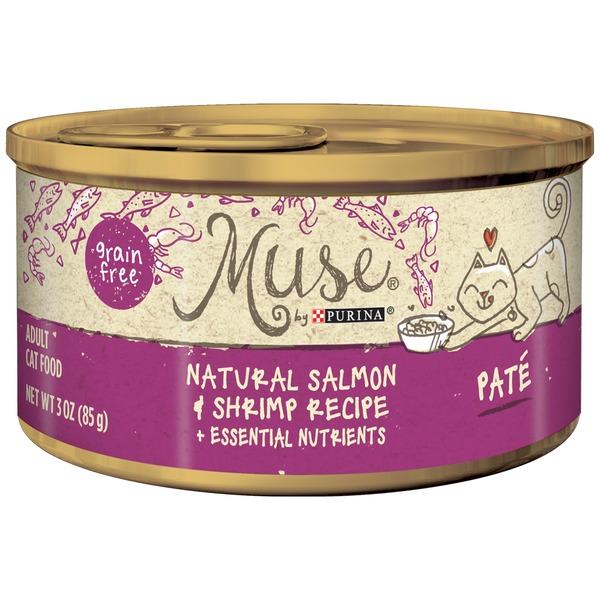 Muse Wet Salmon & Shrimp Recipe Pate Cat Food