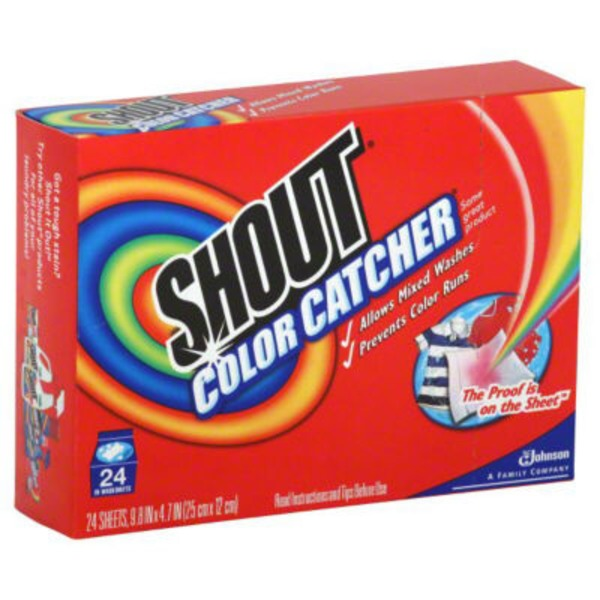 Shout Color Catcher In-Wash Dye Trapping Sheets Dye Catcher