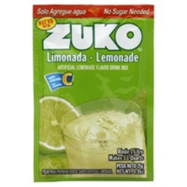 Zuko Artificial Lemonade Flavor Drink Mix