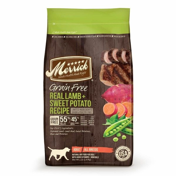 Merrick Real Lamb & Sweet Potato Recipe Limited Ingredients Grain & Poultry Free Adult All Breeds Natural Dry Food for Dogs