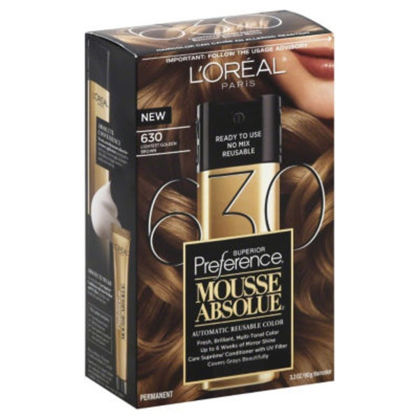 Superior Preference Mousse Absolue Lightest Golden Brown 630 Hair Color