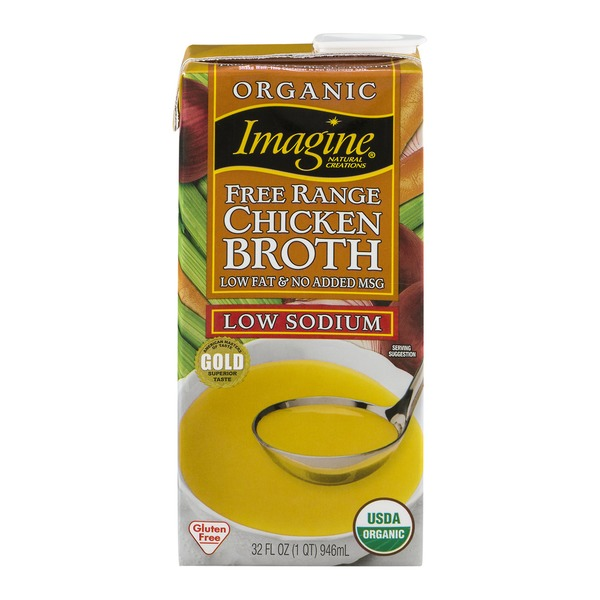 Imagine Foods Organic Free Range Low Sodium Chicken Broth