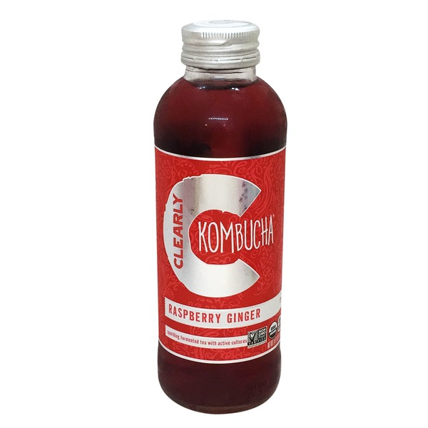 Clearly Kombucha Organic Raspberry Ginger
